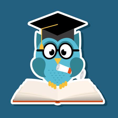 scholen design op blauwe achtergrond vector illustratie
