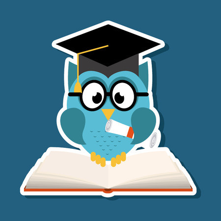 school design over  blue background vector illustration Stok Fotoğraf - 26423694