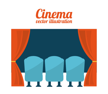 courtain: cinema design over white background vector illustration