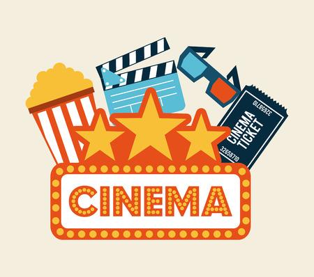 cinema screen: cinema design over white background vector illustration