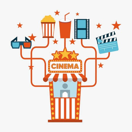 cinema design overwhite  background vector illustration Vector