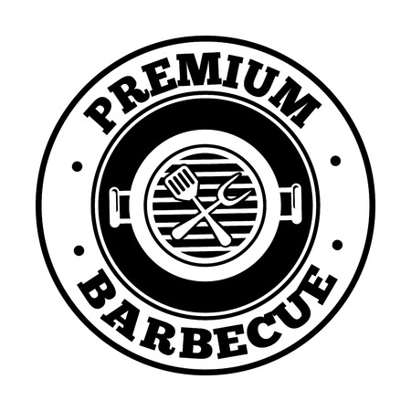 Premium Barbecue stamp over white background, vector illustration Vector