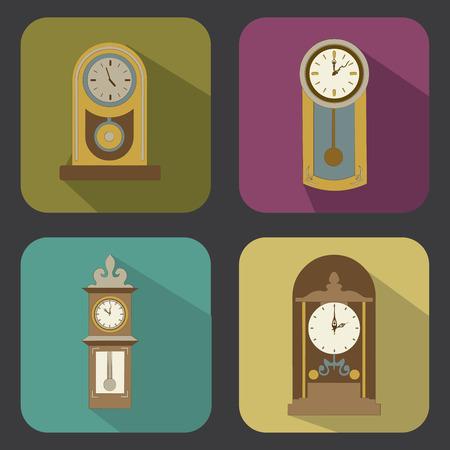 time design vintage over colorful background vector illustration Vector
