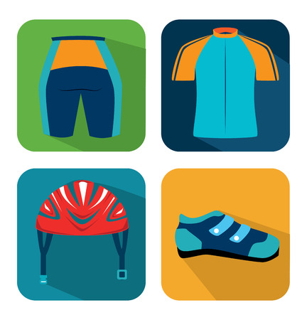 cycling wear design over gray background vector illustration   Vector