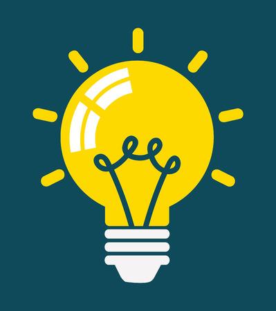 bombilla de luz: Icono de bombilla, concepto de Idea, ilustración vectorial Vectores