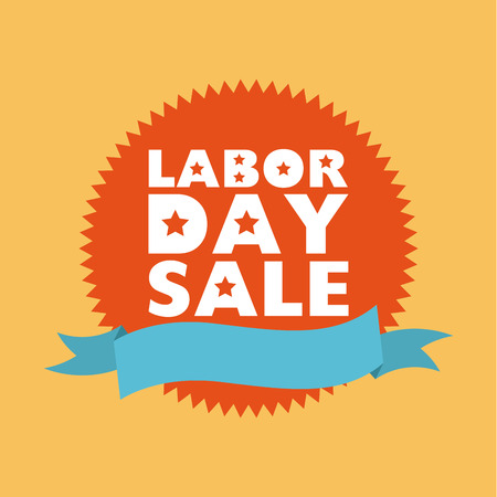 labor market: Labor day stamp on yellow background