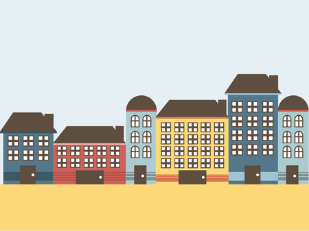 lighthearted: House with colors on flat style, vector illustration Illustration