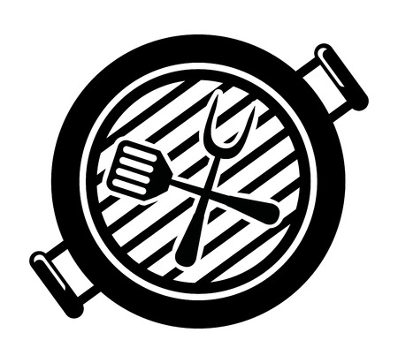 Barbecue grill on white background, vector illustration