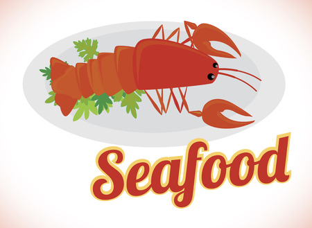 sea food design over white background vector illustration Vector