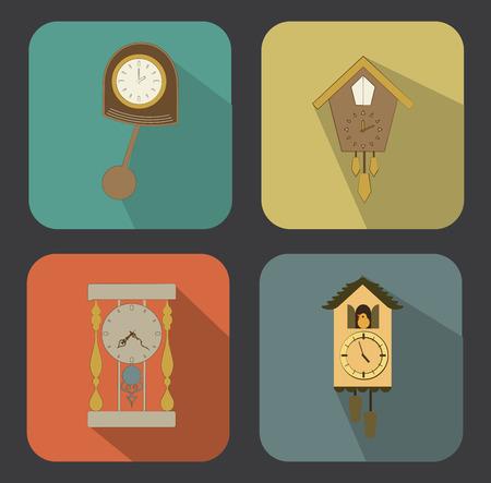 time design over colorful background vector illustration Vector