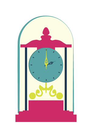 clock design over  white background vector illustration Vector