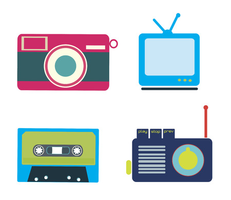 retro lifestyle over white background vector illustration Vector
