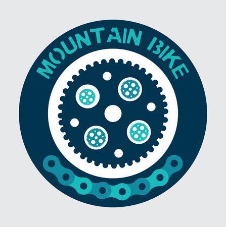 mountain bike design over gray background vector illustration