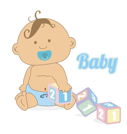 baby design over white background vector illustration Vector