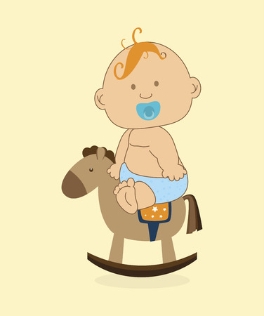 baby design over yellowish background vector illustration Vector
