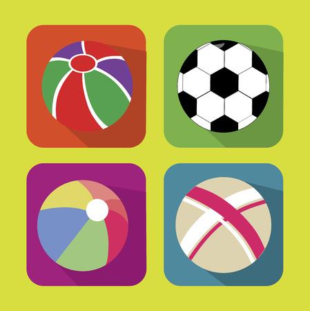 balon voleibol: bolas de deportes sobre fondo amarillo ilustraci�n vectorial