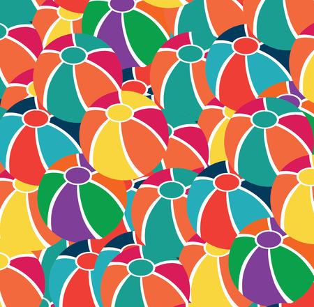 balon voleibol: ilustraci�n vectorial globos de colores Vectores