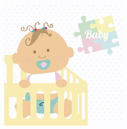 baby design over colorful background vector illustration Vector