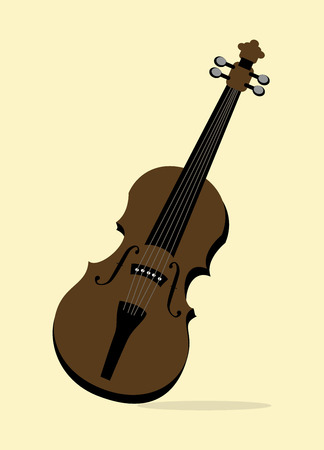 The music icon over yellowish  background vector illustration Vector