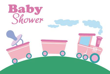 baby shower card vector illustration Vector