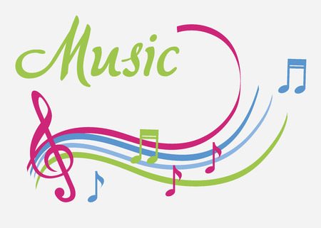 electronic music: The music icon over white  background vector illustration