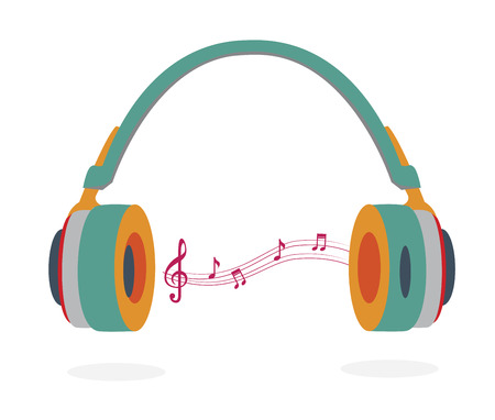 The music icon over white  background vector illustration Vector