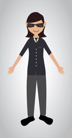 man design over white  background vector illustration