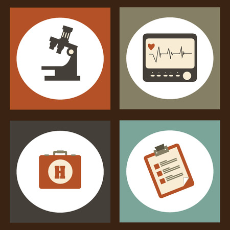 medical supplies:  medical supplies over colorful  background vector illustration