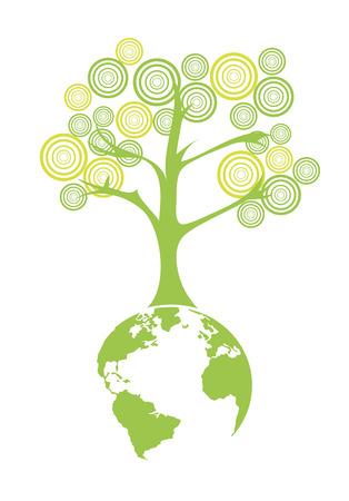 enviromental: earth symbol over white background vector illustration