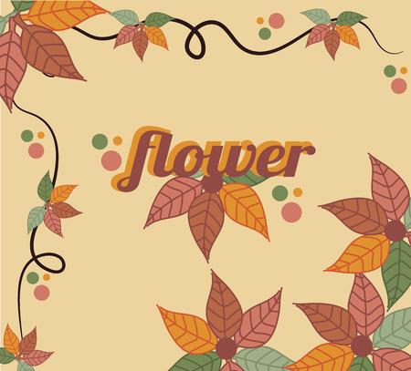 autumn flowers: autumn flowers design over orange  background vector illustration   Illustration