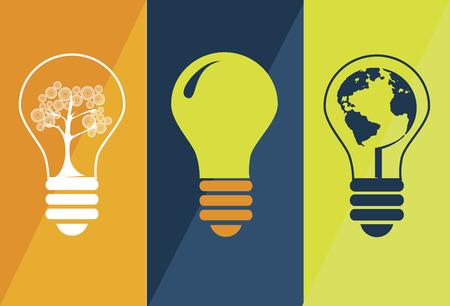 enviroment: enviroment energy design over colorful background vector illustration