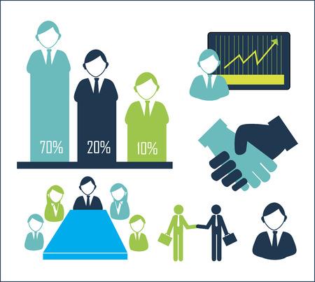 statics: office worker design  over  white background vector illustration