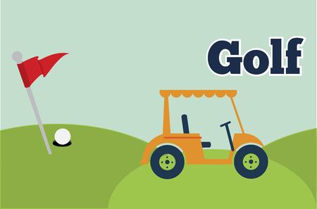 caddie: caddie golf design vector illustration