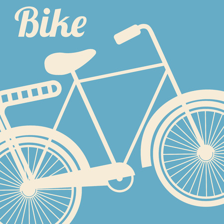 retro style  bike design over blue background vector illustration Vector