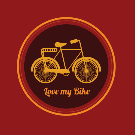 retro style  bike design over  background vector illustration Vector