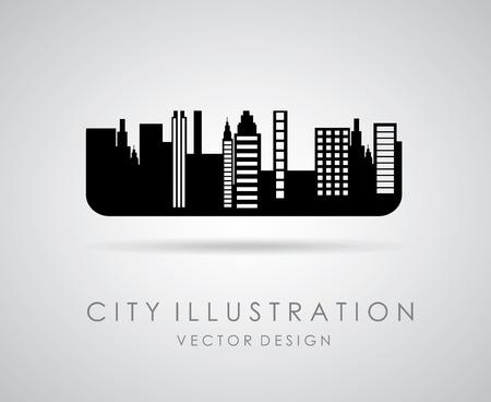 enviromental: urban city design over  gray background vector illustration