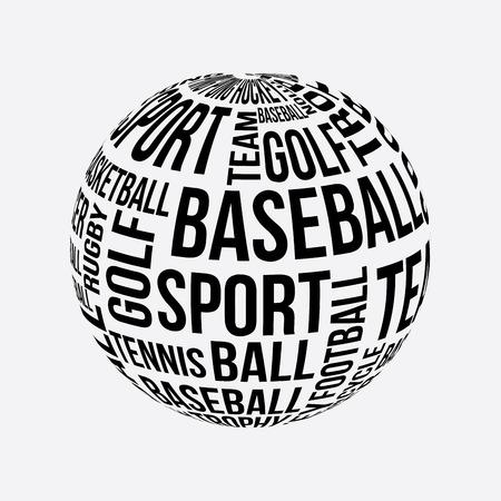 sports design over gray background vector illustration Vector