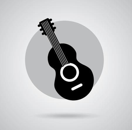acoustic systems: music design over  background vector illustration Illustration