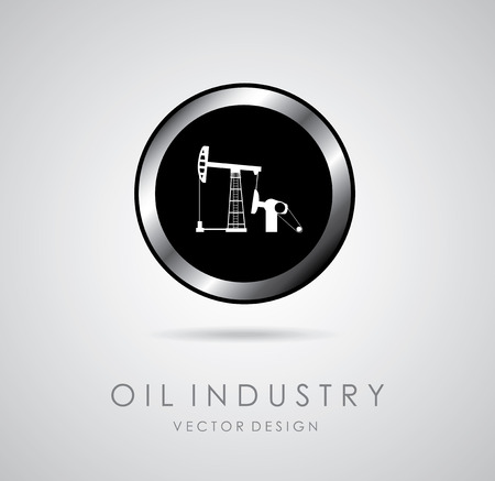 distillation: oil industry over gray background vector illustration