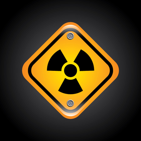 limited access: atomic signs over black background vector illustration