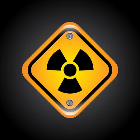 parameter: atomic signs over black background vector illustration