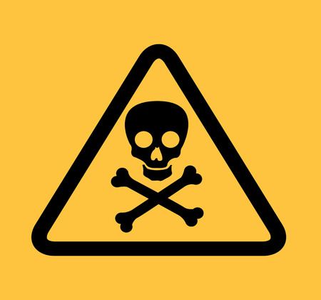 atomic signs over yellow background vector illustration  Vector