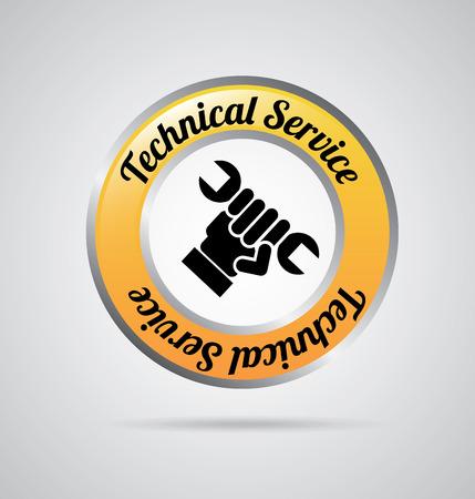 servicio técnico sobre fondo gris ilustración vectorial