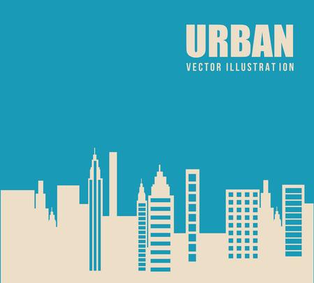 enviromental: urban city design over landscape background vector illustration