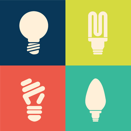 contemplation: bulb idea design over colorful background vector illustration