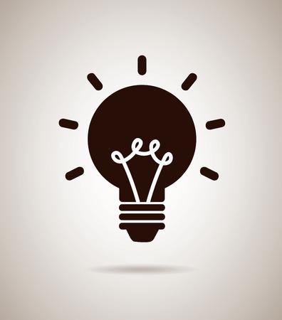 bulb idea design over gray background vector illustration