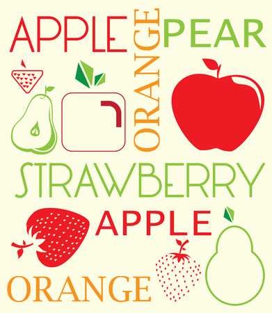 fruits design over background. vector Vector