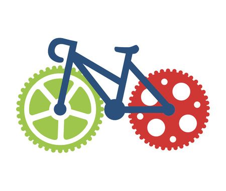 tire cover: cycling design over white background vector illustration