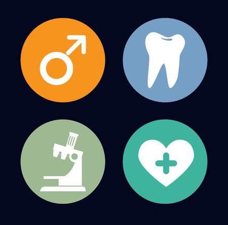 prophylaxe: Zahnpflege �ber Hintergrund Vektor-Illustration