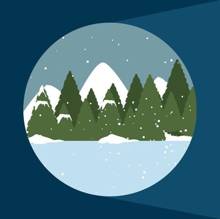 forest design over background vector illustration Vector